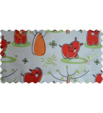 Red white green black orange small flower butterfly animal poly main curtain designs