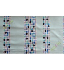 Black white blue brown colour bold rain drop stripes with yellow background poly main curtain designs