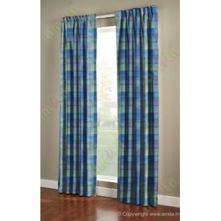 Royal blue purple square shapes design poly main curtain designs