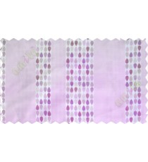 Purple white brown colour bold rain drop stripes with yellow background poly sheer curtain designs
