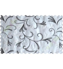 Black and white scroll poly sheer curtain designs