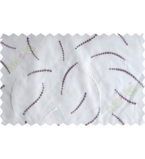 Purple white dot lines poly sheer curtain designs