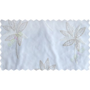 White beige pinnate poly sheer curtain designs