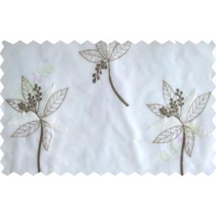 White military green pinnate poly sheer curtain designs