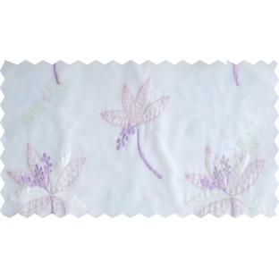 Pink white purple pinnate poly sheer curtain designs