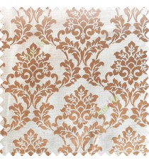 Beige color traditional designs complete damask pattern texture based fabric polyester main curtain