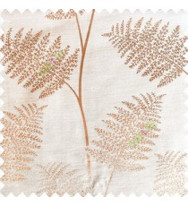 Beige color natural big twig horizontal thin lines very fine designs small leaf patterns polyester main curtain