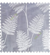 Grey color natural big twig horizontal thin lines very fine designs small leaf patterns polyester main curtain