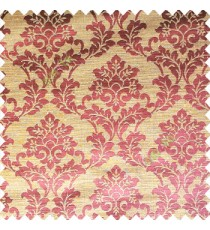 Brownish purple color traditional designs complete damask pattern texture based fabric polyester main curtain