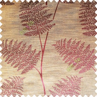 Brownish purple color natural big twig horizontal thin lines very fine designs small leaf patterns polyester main curtain