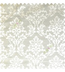 Cream color traditional designs complete damask pattern texture based fabric polyester main curtain