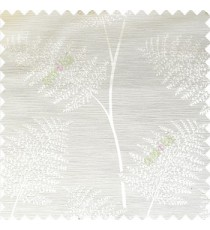 Cream color natural big twig horizontal thin lines very fine designs small leaf patterns polyester main curtain