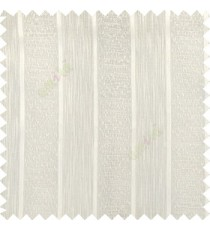 Cream color solid texture vertical stripes with transparent polyester background small thread knots sheer curtain