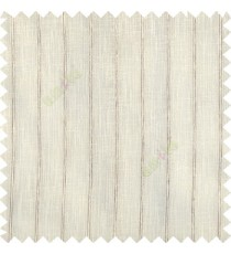 Cream brown color vertical pencil stripes texture gradients horizontal lines with transparent polyester fabric sheer curtain