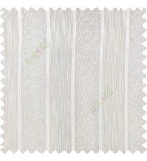 Off white color solid texture vertical stripes with transparent polyester background small thread knots sheer curtain