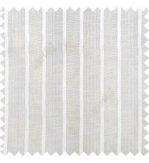 Off white color vertical thick stripes texture gradients horizontal lines with transparent polyester background fabric sheer curtain