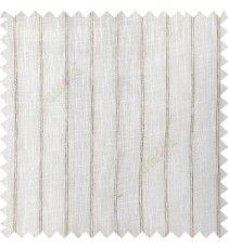 Off white color vertical pencil stripes texture gradients horizontal lines with transparent polyester fabric sheer curtain