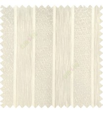 Beige color solid texture vertical stripes with transparent polyester background small thread knots sheer curtain
