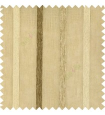 Dark brown with light combination color vertical thick texture stripes horizontal lines with polyester transparent fabric sheer curtain