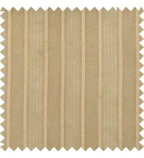 Brown color vertical thick stripes texture gradients horizontal lines with transparent polyester background fabric sheer curtain