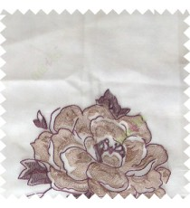 Purple grey color big flower designs texture patterns with thick polyester base fabric sheer curtain