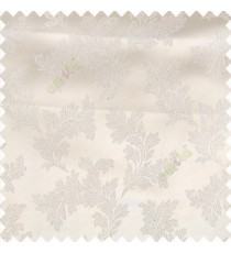 Cream color traditional floral texture patterns shiny base polyester fabric embroidery designs main curtain