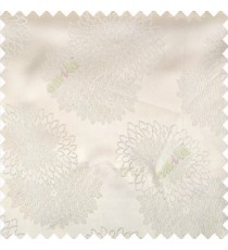 Cream color marigold flower patterns texture embroidery designs small scales solid base fabric polyester main curtain