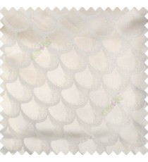 Cream color traditional designs texture and solid combination base fabric scales pattern diya shapes polyester main curtain