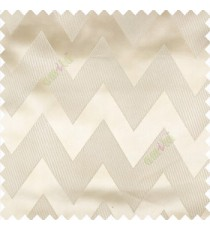 Cream color horizontal zigzag bold patterns texture vertical lines polyester base fabric straight thin lines main curtain