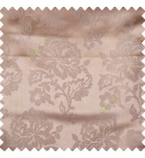 Grey color beautiful rose flower texture finished designs shiny polyester base background leaves flower buds elegant look main curtain