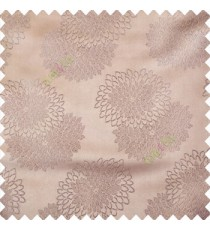 Grey color marigold flower patterns texture embroidery designs small scales solid base fabric polyester main curtain