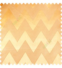 Gold color horizontal zigzag bold patterns texture vertical lines polyester base fabric straight thin lines main curtain