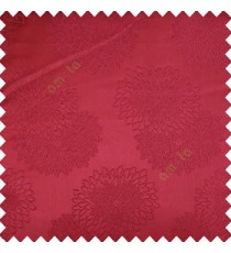 Maroon color marigold flower patterns texture embroidery designs small scales solid base fabric polyester main curtain