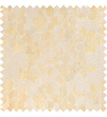 Beige gold color floral leaves pattern texture surface polyester thick fabric flower buds main curtain