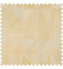 Beige gold color geometric designs texture finished triangles rectangular shapes polyester base fabric main curtain