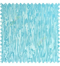 Aqua blue silver color vertical trendy lines texture finished surface polyester base fabric main curtain