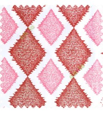 Maroon and pink combination with white base polyester fabric traditional designs texture patterns horizontal bold dot lines sharp edge finishes polyester main curtain