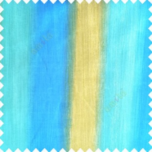 Aqua blue and gold color combination vertical bold stripes texture finished base fabric horizontal weaving lines polyester main fabric