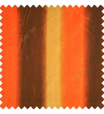 Orange brown gold color combination vertical bold stripes texture finished base fabric horizontal weaving lines polyester main fabric