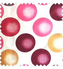 Maroon gold cream pink color geometric circles texture finished polyester base background horizontal lines color shades main curtain