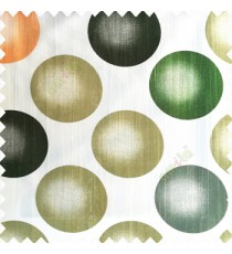Green cream color geometric circles texture finished polyester base background horizontal lines color shades main curtain