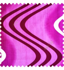Purple color texture polyester base fabric horizontal dark purple and cream zigzag bold lines vertical texture lines main curtain