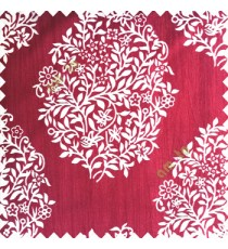 Maroon cream color traditional designs small size floral twigs vertical crush lines polyester base fabric main curtain