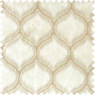 Beige grey color traditional design texture finished with polyester background ogee pattern vertical texture gradients lines main curtain
