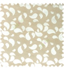 Beige grey color traditional paisley pattern embroidery leaves design with thick polyester background main curtain