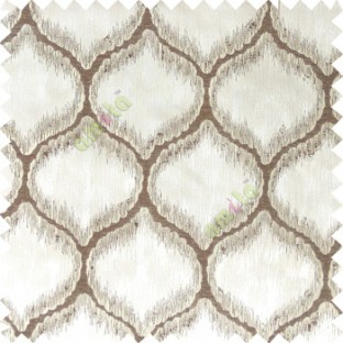 Dark brown grey color traditional design texture finished with polyester background ogee pattern vertical texture gradients lines main curtain