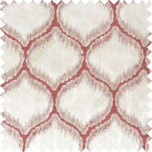 Maroon beige color traditional design texture finished with polyester background ogee pattern vertical texture gradients lines main curtain