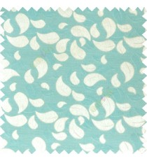 Blue grey color traditional paisley pattern embroidery leaves design with thick polyester background main curtain