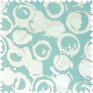 Blue grey color geometric circles texture surface weaving pattern with thick polyester background main curtain