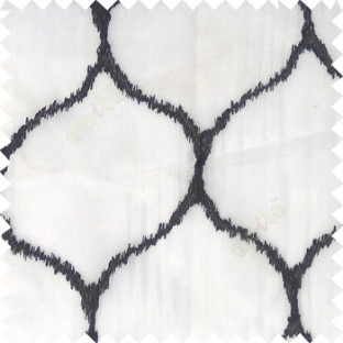 Black grey color traditional design texture finished with polyester background ogee pattern vertical texture gradients lines sheer curtain